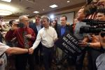 Senator Rand Paul of Kentucky, a Republican presidential candidate, greeted supporters after speaking at a hotel in Las Vegas on Monday.Credit